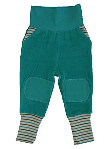 Baby Kinder Hose Nickyhose Bio-Baumwolle 8 Farben Wählbar GOTS Nicki Strampelhose Jungen Mädchen Gr. 50/56 bis104 (74/80, blau-Ozean)