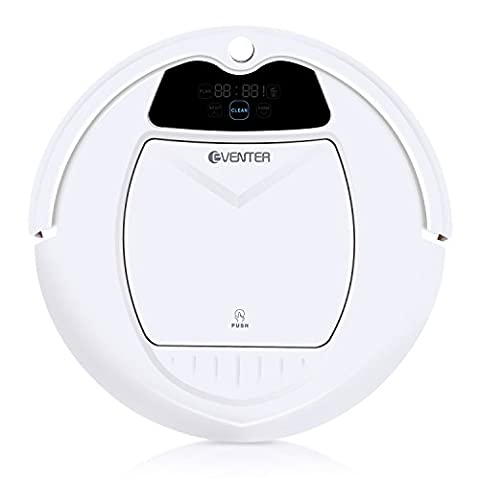 Eventer Robotic Vacuum Cleaner, Tangle Free, Auto-Charged and Scheduling, with