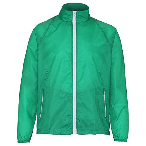 2786 - Veste de pluie légère - Homme Vert/Blanc
