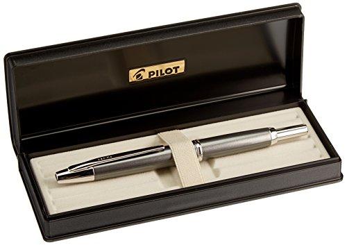 Pilot Fountain Pen Capless Decimo, Dark Gray Myca Body, M-Nib