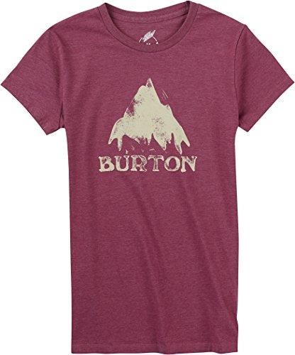 Burton-Maglietta da donna a maniche corte modello stmdmtn RPET, Donna, T-Shirt WB Short Sleeve RPET, Plum Heather, S
