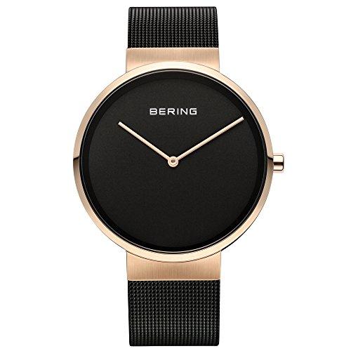 Bering Unisex-Armbanduhr Analog Quarz Edelstahl beschichtet 14539-166