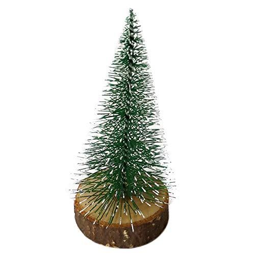 rycnet Weihnachtsbaum, klein, Holzsockel, künstliche Kiefer Green Mini