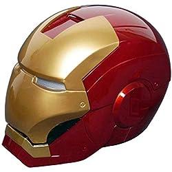 Gmasking Iron Man MK3 - Casco de cosplay, escala 1:1, réplica + llavero