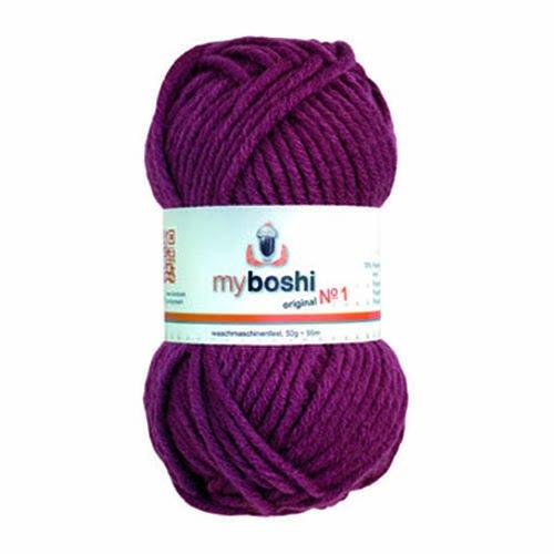 Myboshi (164 brombeere) Merino Wolle/Acrylgarn No. 1 zum stricken, häkeln und für die Handarbeit (55m/50gr) -