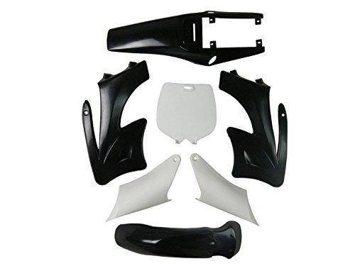 Pocketbike 2 Takt Mini Cross KDX Orion Verkleidungs SET - Schwarz