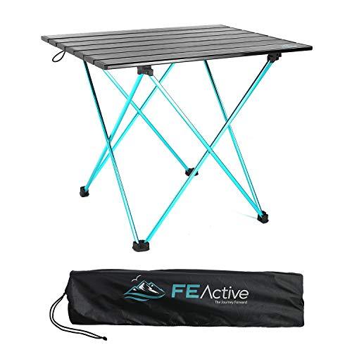 FE Active- Mesa Plegable compacta Fabricada con Aluminio, Mesa de Acampar portátil y...