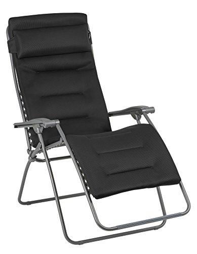 Lafuma Großer Relax-Liegestuhl, Klappbar und verstellbar, RSX Clip XL, Air Comfort, Acier (Anthrazit), LFM2041-8718 -