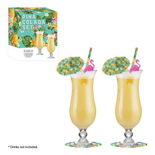 pina-colada-cocktail-glass-gift-set-bar-drinking-glasses-umbrellas-accessories