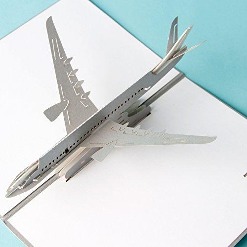 3d pop up cards vintage aereo air regali creativi cartolina compleanno san valentino, biglietti di auguri per gli amanti