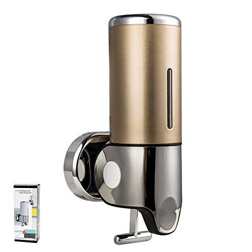 500ML Soap Dispenser Wall Mount Shampoo Gel Pump Soap Washing Up Liquid Dispenser Bottle Gold