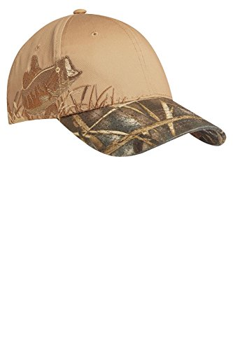 Port Authority® Embroidered Camouflage Cap. C820 Realtree MAX-5/ Tan/ Bass OSFA Bass Camouflage Cap