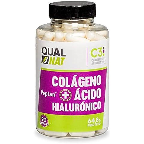 Colágeno + Hialurónico + Zinc + Vitamina C, ayuda a mantener la flexibilidad de las articulaciones, bueno para la piel, 90 cápsulas,