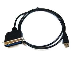 USB zu Parallel Centronics Adapter Druckerkabel 36pol. für XP + Vista + Win 7