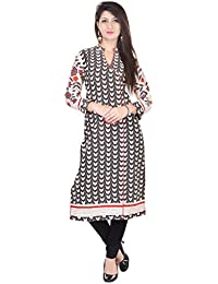 Palakh Women's Cotton Straight Traditional Kurti (Multi Color)