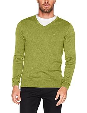 Tom Tailor Basic V-Neck Sweater, Felpa Uomo