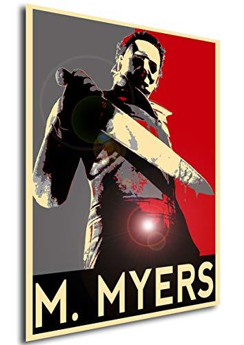 Instabuy Poster Propaganda Horror Halloween Michael Myers Manifesto 70x50 (Horror-film-zeichen Halloween Für)