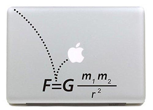 Vati Blätter Removable kreativen Physik Formel-Aufkleber Aufkleber Skin Art Schwarz für Apple Macbook Pro Air Mac 13