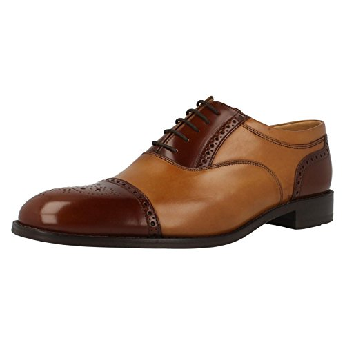 loake-woodstock-mens-black-leather-lace-up-shoes-9-2-tone-tan