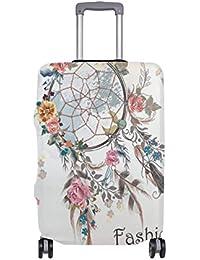 Preisvergleich für COOSUN Traumfänger und Blumen-Entwurfs-Druck-Reise-Gepäck Schutzabdeckungen Waschbar Spandex Gepäck Koffer Cover...