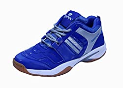 Zeefox Mens Rayder Royal Blue/Silver Non-Marking Badminton Shoes/Sports Shoes by Dazzal