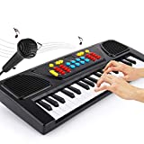 XHZNDZ 37 Tasten Kinder Klaviertastatur, Led-Anzeige Tragbare Klaviertastatur mit Mikrofon MP3-Funktion Musikinstrument Spielzeug for 3-12 Jungen Mädchen Kinder Geschenke Klavier for Kinder