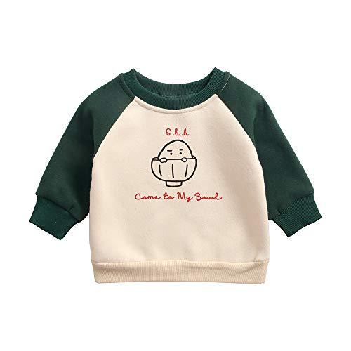 Sanlutoz Imprimé Les Enfants Sweat-Shirt Décontractée Bébé Garçons vêtements Unisexe des Gamins Vêtements (12-18 mois/80cm, KTW8174-GR)