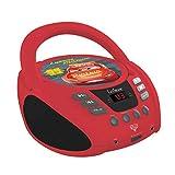 Disney Cars- Lettore Radio CD, Colore Rosso/Nero, RCD108DC