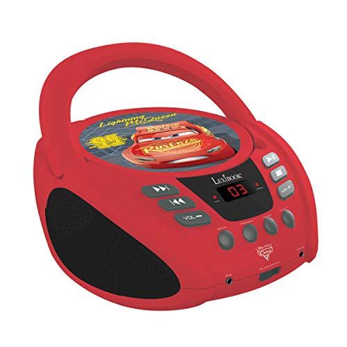 Lexibook RCD108DC Disney Pixar Cars McQueen Radio-CD-Player, Rot/Schwarz -