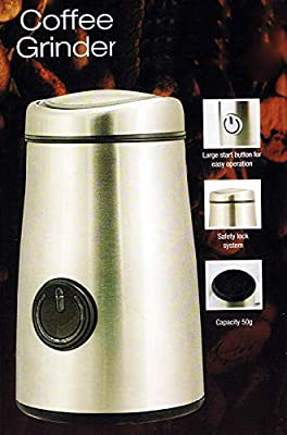 New Stainless Steel Electric Coffee Grinder 150w 50g Beans Spice Nuts Herbs