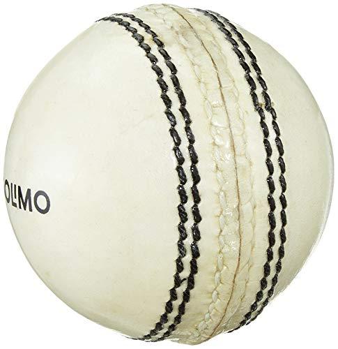 AmazonBrand - Amazon Brand - Solimo Leather Cricket Ball, 2 Piece, White, Set of 2