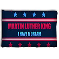 Mizongxia Pillow cases martin luther king day i have dream greeting card stars red blue color mlk day vector martin luther king day i have 20 * 30inch