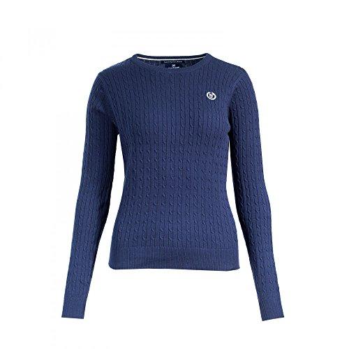 horze Reanna Zopfmuster-Pullover Sweater für Damen