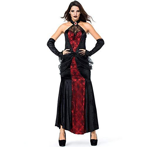 Sijux Frauen Halloween Sexy Kostüm Königin Lange Rock Gothic Göttin Königin Bühne Banshee Cosplay - Gothic Göttin Für Erwachsenen Kostüm