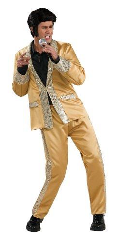 Goldener Anzug Elvis Kostüm 2teilig - X-Large