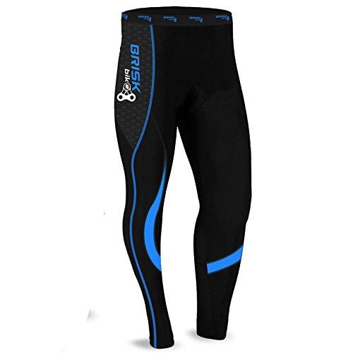 Brisk Bike Thermo-Radhosen Fahrradhosen Radsport-Leggings Fahrradhosen Radlerhosen gepolsterte Radhosen professionelle Radhosen Fahrradkleidung Mountainbike (Black / Blue, L)