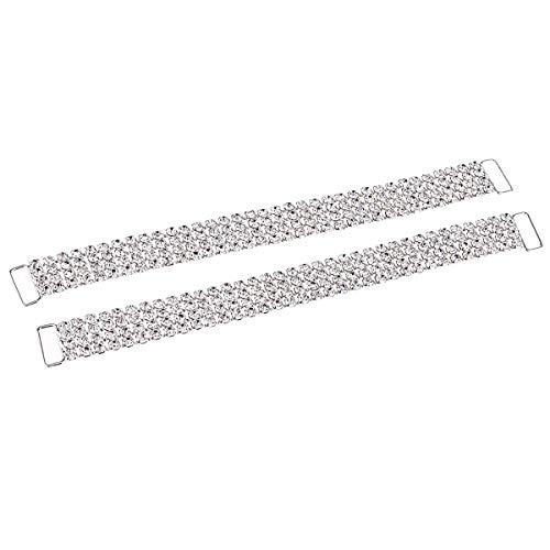 2 Stück Strass Kristall Bikini Stecker Schnalle für Bikini -