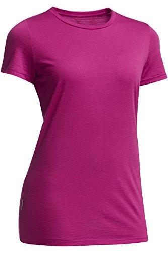 Icebreaker Tech Lite T-Shirt Femme Rouge - framboise