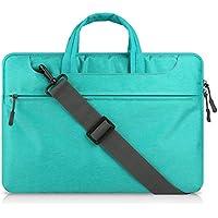 TEYUN Maletín portátil bolsa de hombro Messenger Bag Repelente de Agua taleguilla de la tableta de negocios que lleva el bolso de la manga de 13,3 / 15,6 pulgadas ( Color : Green , Size : 13.3 inch )