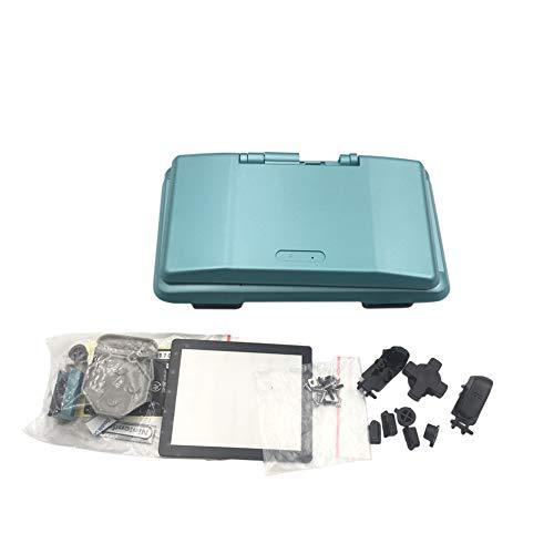 Hzjundasi Ersetzen Gehäuse Etui für die Nintendo DS Konsole - Ersatz Hülle Decken mit Aufkleber Zubehör für Nintendo DS NDS Konsole (Hell Blau)