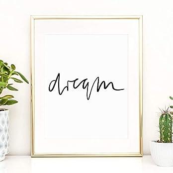 Tales by Jen Kunstdruck, Sprüche Poster: Dream | Stilvolles Premium Poster auf hochwertigem Papier | Handlettering…