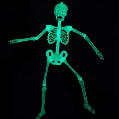 prev ently Halloween Juguete Color cráneo Luminous Skull Skeleton Cuerpo Scary Halloween Juguete Casa encantada heikles Prop Halloween Juguete para Halloween 35cm