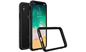 RhinoShield Bumper Case FOR IPHONE X [CrashGuard] | Shock Absorbent Slim Design Protective Cover [3.5M/11ft Drop Protection] - Black