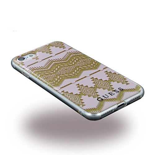 Guess AZTEC - 3D Effect TPU Case - Light Pink - iPhone 7 Rose