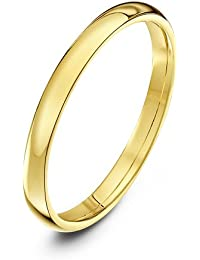 Theia Unisex 9 ct Yellow, White or Rose Gold, Heavy Court Shape, Polished, 2-9 mm Wedding Ring