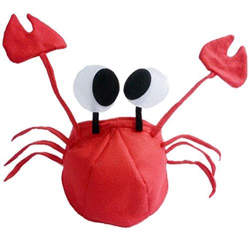 Beito Rot-Filz-Krabbe-Hut-Partei-Kostüm Verstellbare Sitze Kostüm Für ()