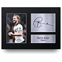 HWC Trading Harry Kane Gift Signed A4 Printed Autograph Tottenham Gifts Hotspur Spurs Photo Display