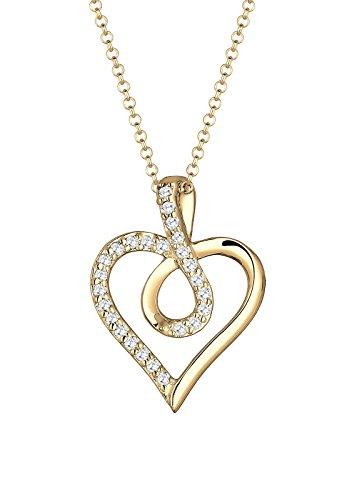 Collier pour femme - Forme de Coeur - Argent, Or ou Or Rose