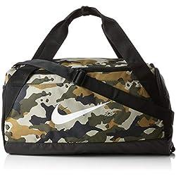 Nike NK Brsla S Duff AOP Sac à Main Mixte Adulte, Multicolore (Neutrl Olive/Blck/WHT), 24x15x45 Centimeters (W x H x L)