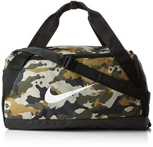 Nike NK BRSLA S Duff-AOP Bolsa de Gimnasio, Adultos Unisex, Neutral Olive/Black/White, One Size